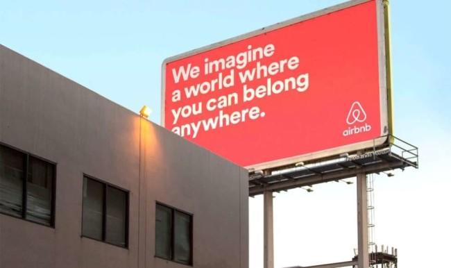 Airbnb slogan in the bilboard campaign bz DesignStudii