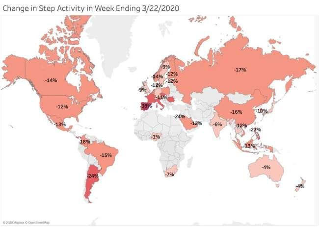 The impact of Coronavirus on global activity