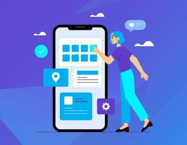 An app developer creating an app