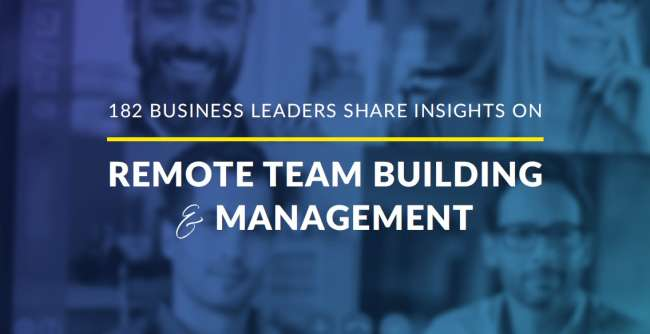 remote team building and management report