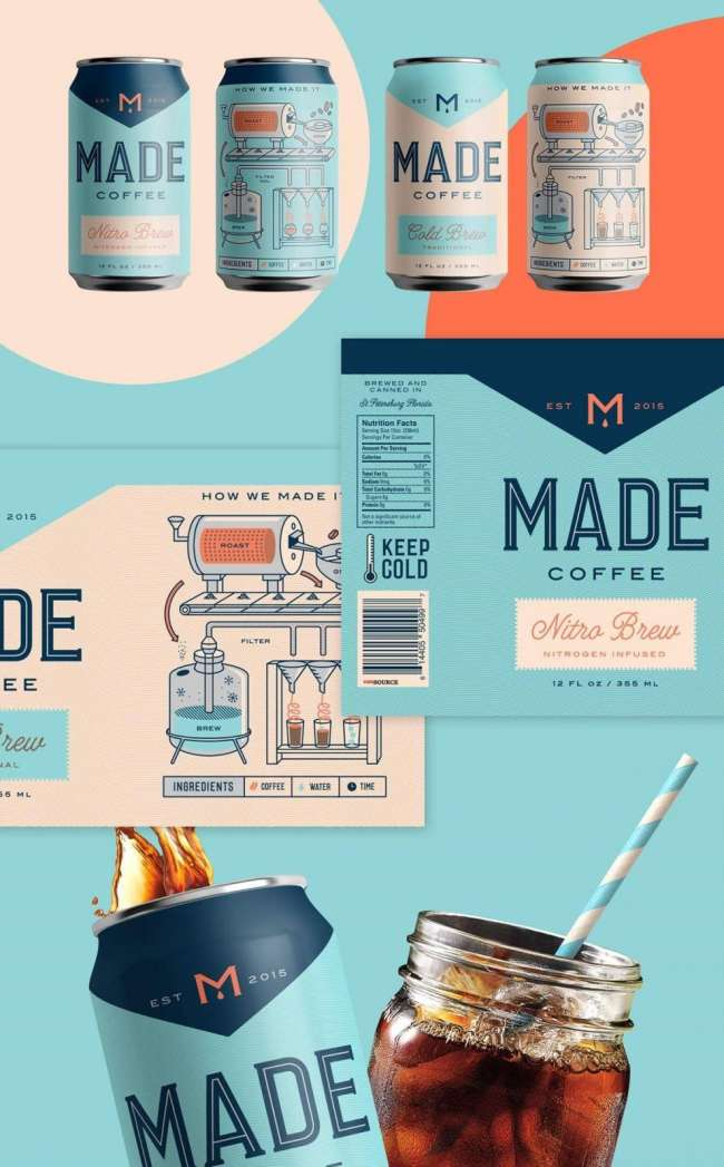 Food packaging design: MADE Coffee