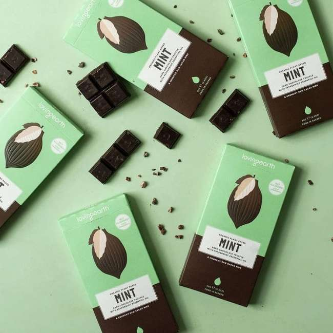 Food packaging design: Loving Earth Chocolates