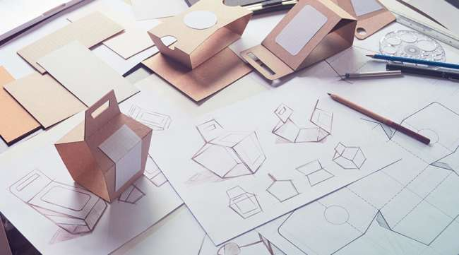 Creating food packaging design