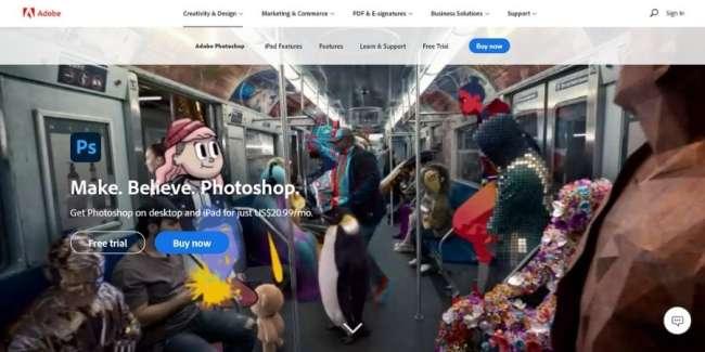 best graphic design software: Adobe Photoshop