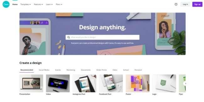 best graphic design software: Canva