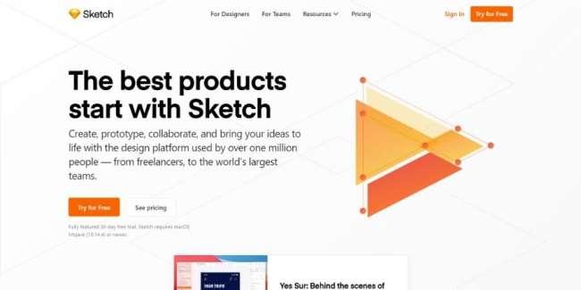 best graphic design software: Sketch