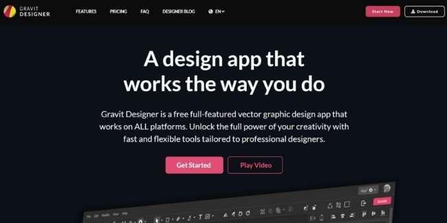 best graphic design software: Gravit Designer