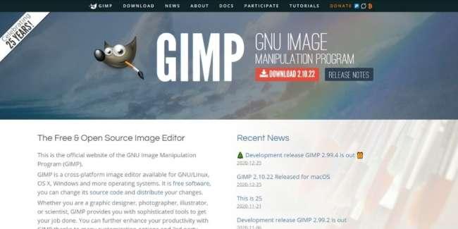 best graphic design software: GIMP