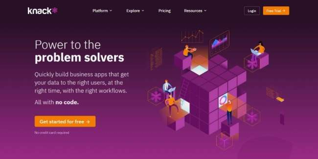 best database software: Knack