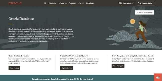 best database software: Oracle RDBMS