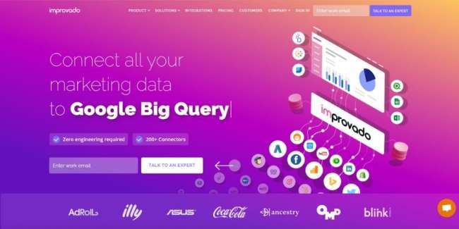 best database software: Improvado