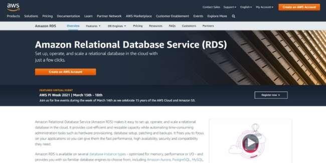 best database software: Amazon RDS