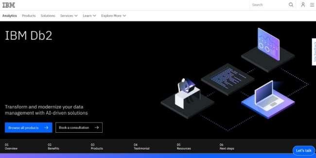 data management software: IBM DB2