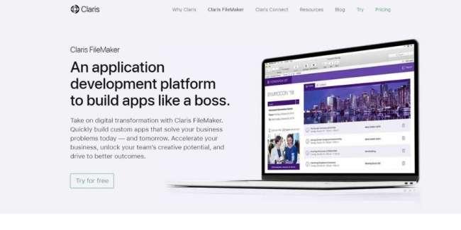 online database software: Claris FileMaker