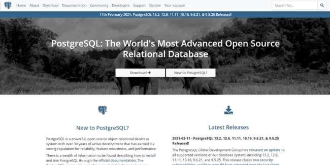 free database software: PostgreSQL