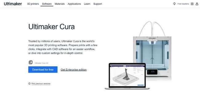 best 3D printing software: Ultimaker Cura