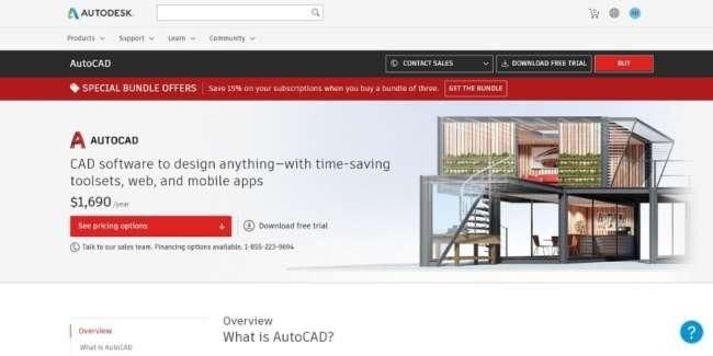 best 3D printing software: Autodesk AutoCAD