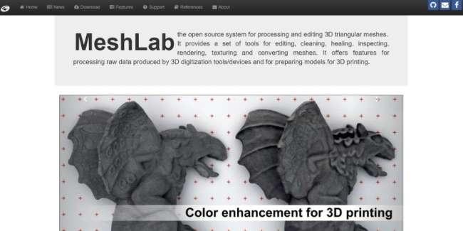 best 3D printing software: MeshLab