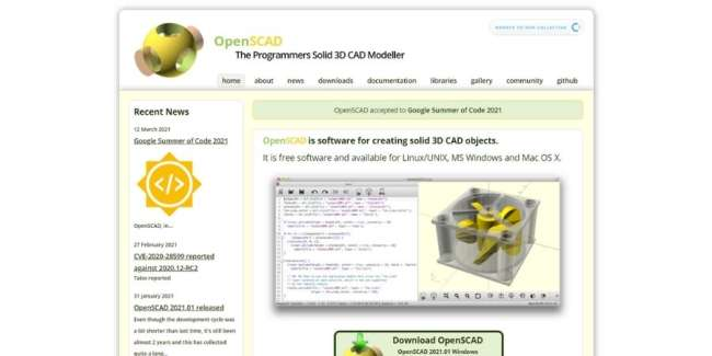 OpenSCAD 3d printer design software
