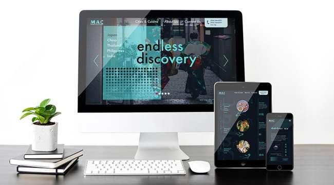 MAC Website Mockup by Alexis Flores