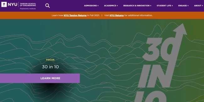 Top universities for design talent: NYU Tandon School of Engineering