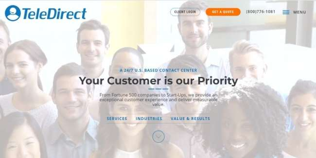 customer service outsourcing companies: TeleDirect
