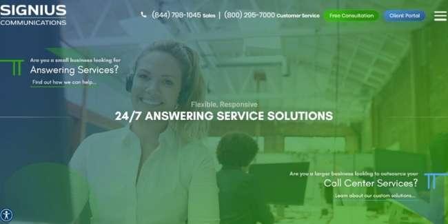 Signius Communications website