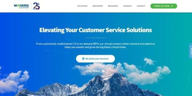 Working Solutions website