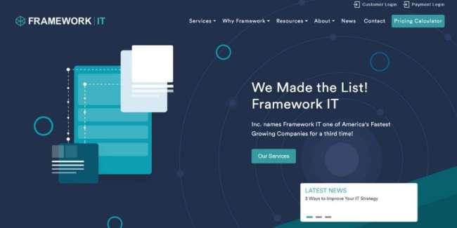 Framework IT website