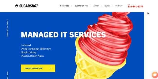 SugarShot website