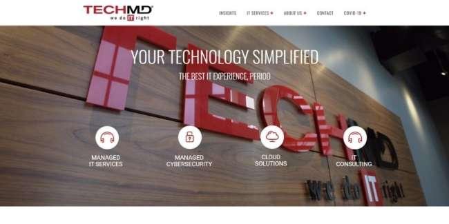TechMD website