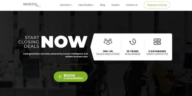 lead generation companies: Martial Group