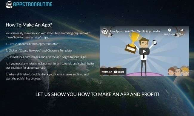 AppstronautME website