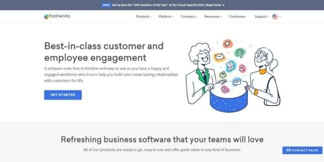 open source CRM: Freshworks