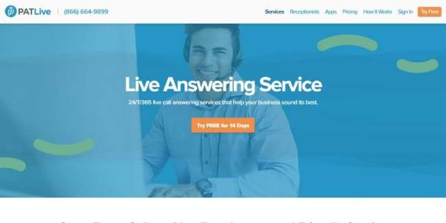 Answering service companies: PATLive