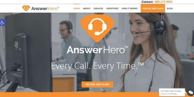 Answering service companies: AnswerHero