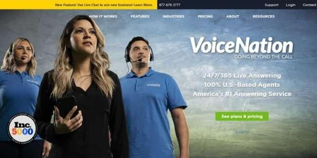 Answering service companies: VoiceNation