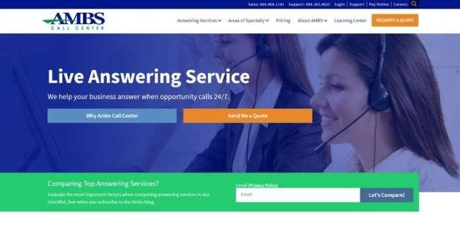 AMBS Call Center website