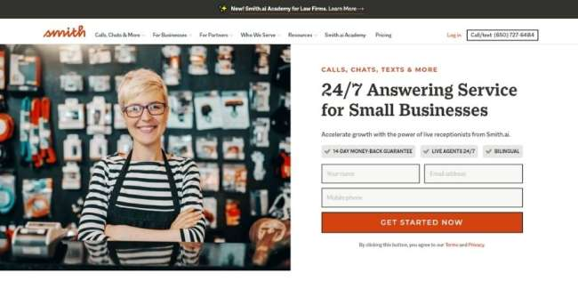 Answering services for small businesses: Smith.ail