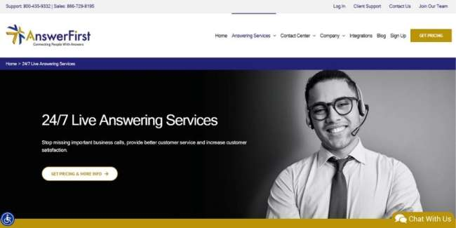 Answering services for small businesses: AnswerFirst