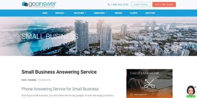GoAnswer website
