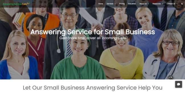 Answering Service Care website