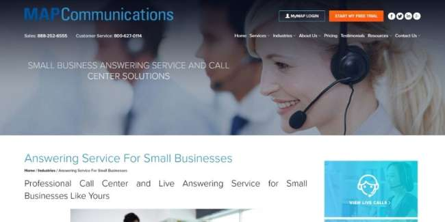 MAP Communications website