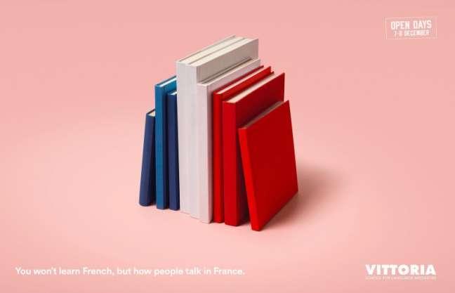 La Fabrica Creativa's marketing campaign: French language
