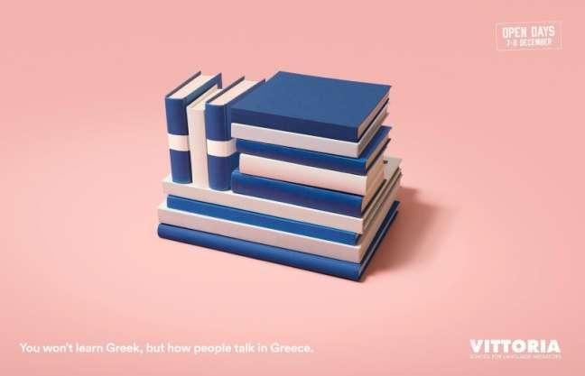 La Fabrica Creativa's marketing campaign: Greek language