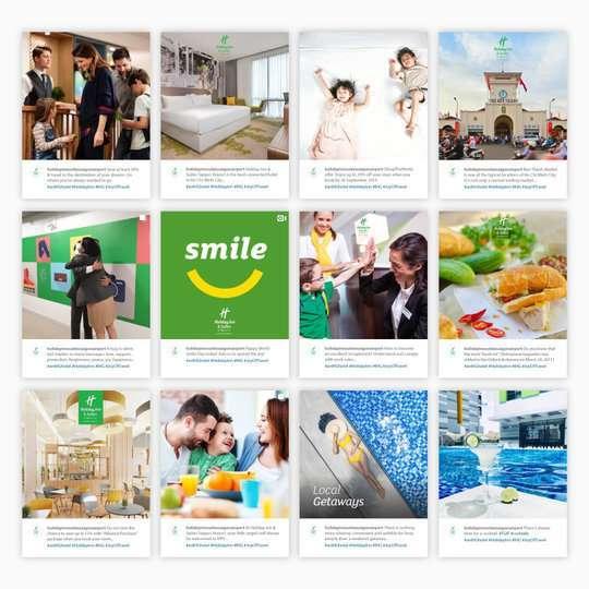 Holiday Inn & Suite Saigon Airport social media campaigns