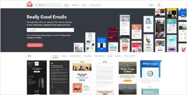 email design inspiration platforms: Really Good Emails