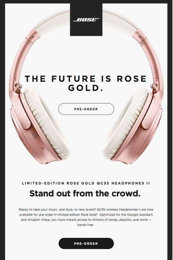 product update marketing campaign examples: Bose