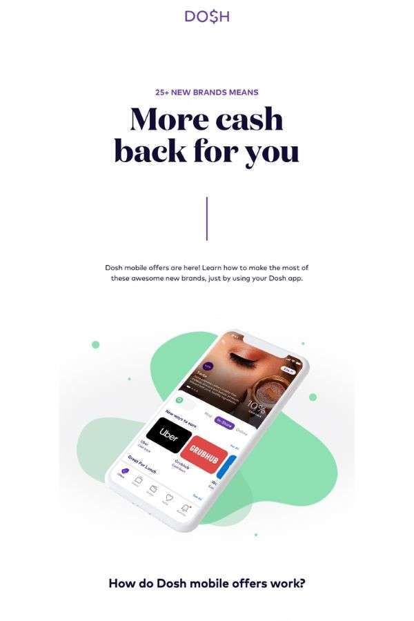 product update marketing campaign examples: Dosh