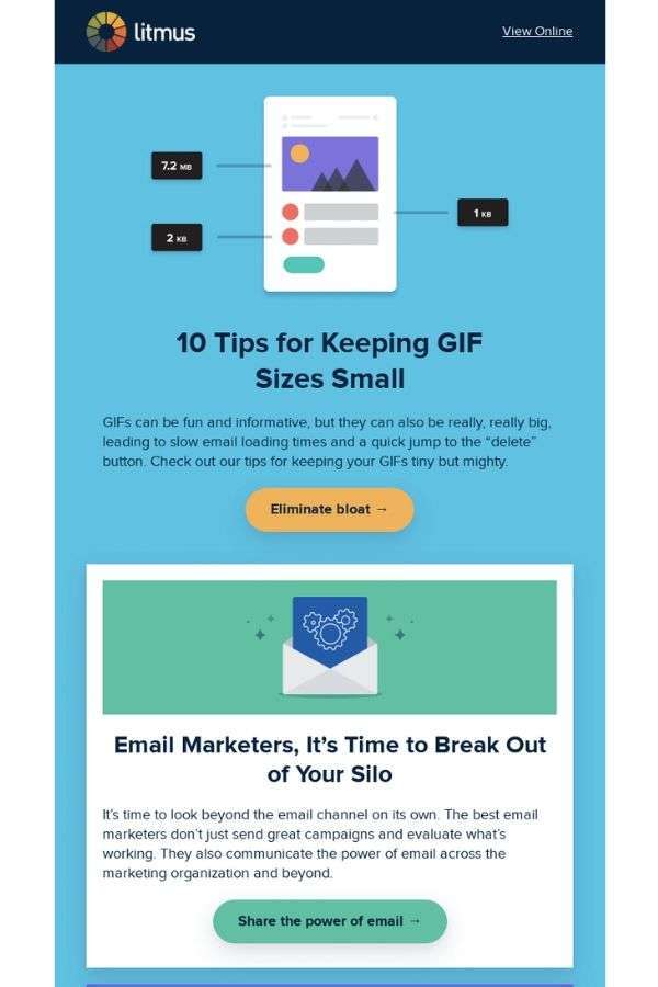 newsletter email campaign examples: Litmus